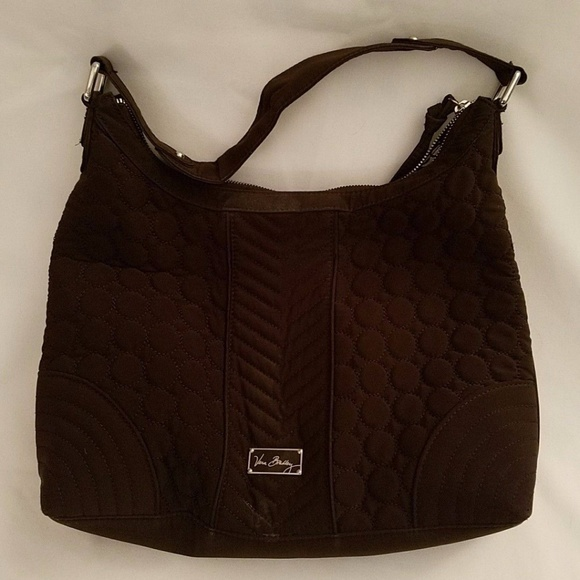 09cfc9ee69ac Vera Bradley Brown Quilted Large Shoulder Bag. M 5ad69cd4a4c485f5ad2fad5d
